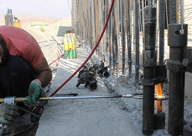Gas Pressure Welding Of Short Root Rebar